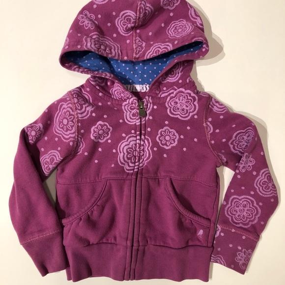 NWT 77kids by American Eagle Girls Size 3 or 4 Years Zip-Up Hoodie Sweatshirt
